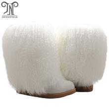 Fashion Sheepskin Wool Lining Fluffy Winter Boots Women