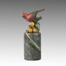 Estatua de pájaro animal Birdle y escultura de bronce de la granada, Milo Tpal-299