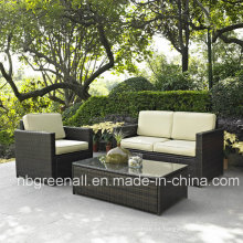 Sofá del jardín Muebles de mimbre del patio de la rota (GN-9078-4S)