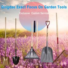 Função de ferramentas de exploração agrícola de pá com cabo de madeira W / poli D-Grip