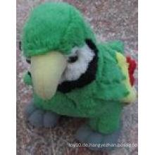 Nette visuelle hochwertige gefüllte Papagei Spielzeug