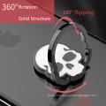 Skull Appearance Finger metal Ring Holder 360 degree rotating Ring Stand for Mobile Phones