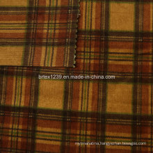 21Wales Checked Printed Corduroy Fabric for Apparels with Spandex