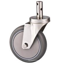 125 мм PU Medium Duty Industrial Caster, нержавеющая сталь Stem Caster