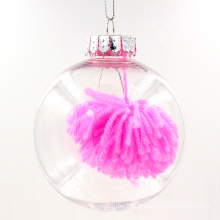Hanging Clear Glass Christmas Round Ornaments
