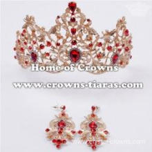 Gorgeous Wedding Tiaras With Earrings In Comfort Band