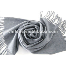hiver écharpes tissées solides de cachemire pur pour les hommes