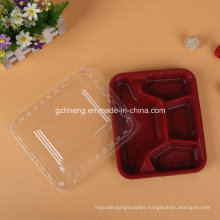 Customized Plastic Restaurant Fast Food Tray (PP food container)