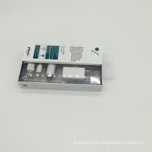 caixas de embalagem dobráveis de papel de impressão de cobre único