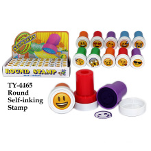 Hot Funny Smile Round Self-Inking Stamp Toy
