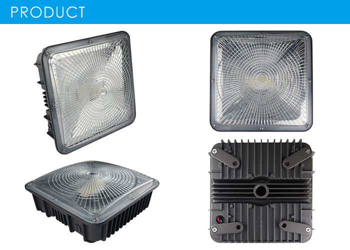 125LM/W Led Gas Station Canopy Lights