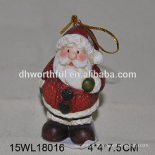 Pingente de cerâmica para Natal Santa