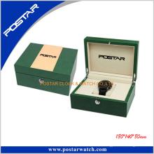 Caja de reloj de cuero de moda de calidad superior por encargo
