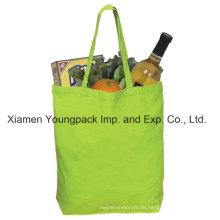 Werbeartikel wiederverwendbare grüne Wirtschaft Baumwolle Leinwand tragen Tasche