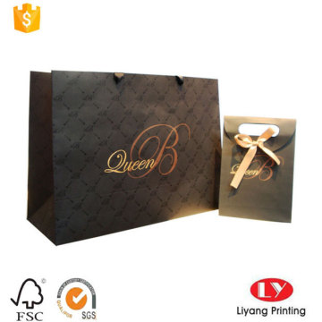 Elegante borsa regalo in carta con logo stampato all'ingrosso