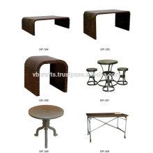 Muebles industriales de la vendimia