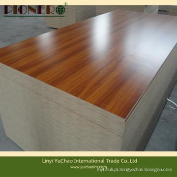 MDF de melamina de grão de madeira para mesa de escritório