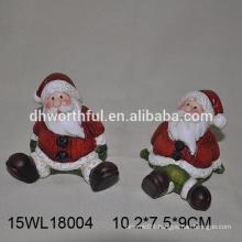 2016 christmas ornaments ceramic santa claus