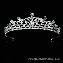 Wholesale good quality wedding handdress crystal bridal tiara crown bridal headpiece new design for prom