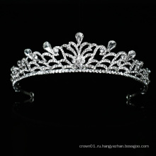 Оптовая хорошее качество свадебное платье кристалл свадебная тиара корона свадебный головной убор новый дизайн для выпускного вечера