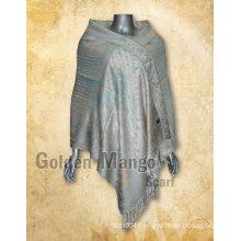 Viscose scarf with jaquard design