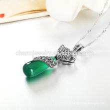 Hot Selling Luxury Silver Necklace Style de personnalité pour les femmes occidentales en gros SCR002