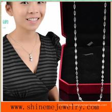 Shineme joyas de acero inoxidable de moda collar de labios (SSNL2639)
