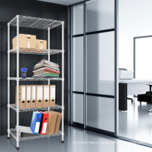 Modern White Adjustable Steel Double Sided Lacquer Book Shelf, NSF Approval
