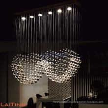 Elegante colgante de luz de la cocina moderna colgante de cristal 92003