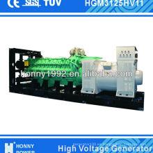 20 Cilindro del motor 2000kW 2500kVA Generador diesel de alto voltaje 50Hz 1500RPM