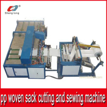 Китай Поставщик Автоматическая пластмассовая ПП тканая мешочная машина для резки и шитья