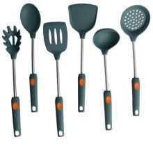 notação de construtor de conjunto de utensílios de cozinha de silicone