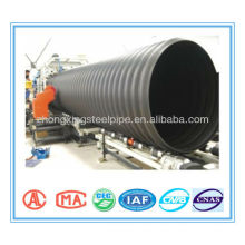 Steel Reinforced spirally wound PE Corrugated Drainage Pipe