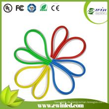 LED-Neonlichter mit farbiger PVC-Beschichtung