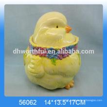 Easter cock ceramic storage jar