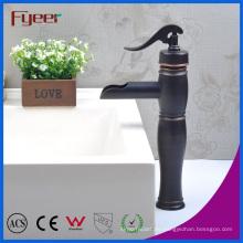 Fyeer - Grifo para lavamanos, lavabo, lavabo, clásico, con una sola manija, negro