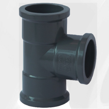 NBR5648 Water Supply Upvc Tee Couleur Gris