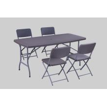New Rattan Design Складной пластиковый стол USE зонтик