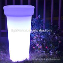 Potenciômetro de flor brilho LED / grande vaso plantador/decoração ao ar livre