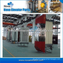 1.0m/s~1.75m/s 800kg~1000kg Commercial Elevators and Lifts| Panoramic Elevator Cabin
