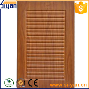 Louver pvc used kitchen cabinet doors