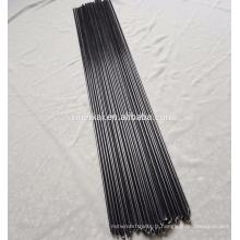 Piquet de jardin / piquet de support en fibre de verre noir 5MM