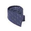 Skinny Silk Woven Neck Tie Anchor Square End Necktie