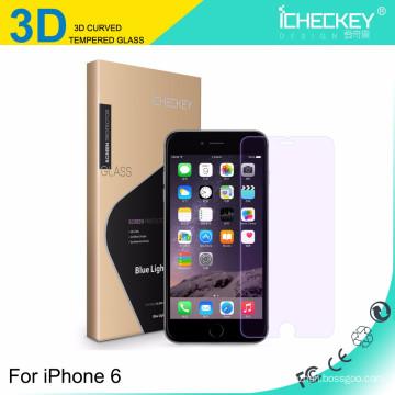 Vidrio moderado de la cubierta completa de la fibra de carbono 3D de la fuente directa de la fábrica para el iphone 6