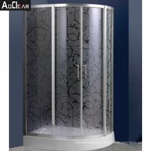 Aokeliya barn door sliding shower doors bathroom frameless shower enclosure bi slider shower door