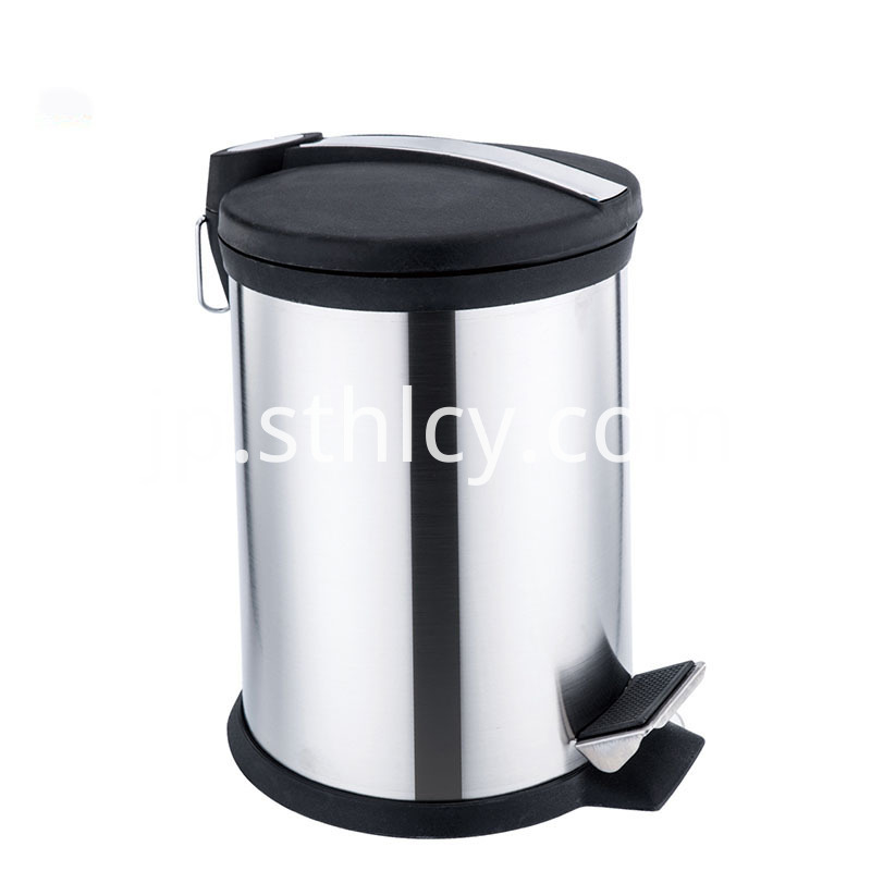 Open Foot Pedal Stainless Steel Waste Bin