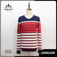 Suéter de color con contraste en contraste para hombres