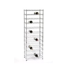 Alta qualidade ajustável cromo garrafa de vinho garrafa armazenamento rack prateleira, aprovação NSF