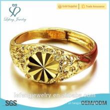 Atacado de preço alto brilho vintage banhado a ouro anéis de noivado