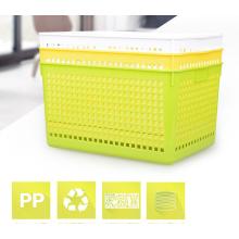Cesta de fruta plástica del almacenamiento multiusos de gran tamaño respetuosa del medio ambiente para la venta al por mayor